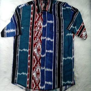 Wrangler Mens Western Black Pearl Snap Shirt M